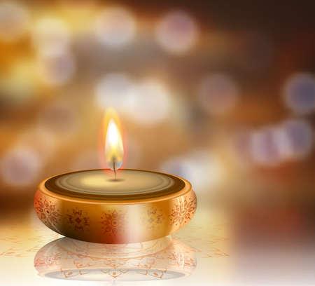 Gelukkige Diwali vector achtergrond met ruimte voor uw ontwerp