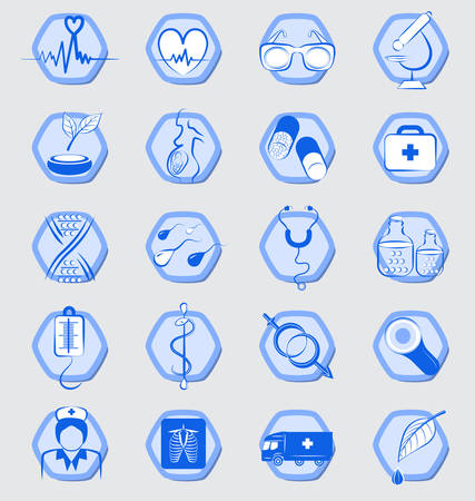 medical signs: Vector Medical signs and Icons set Illustration