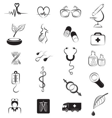 medical signs: Healthcare and Medical signs and Icons set