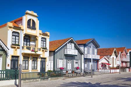 case colorate: case colorate in Aveiro, in Portogallo