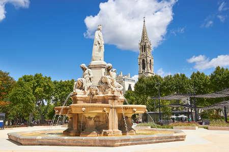 gaulle: Esplanade Charles de Gaulle of Nimes. Provence, France