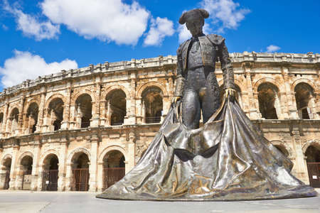 arena: Roman Amphitheater in Provence, Nimes, France
