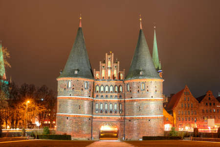 Holsten gate of Lubeck in Germany Editorial