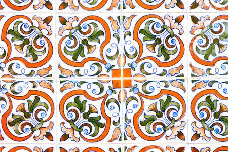 Decoraciones florales portuguesas típicas llamadas azulejos Foto de archivo