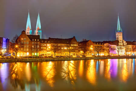 townscape: Buildings in the old town of Lubeck - Germany