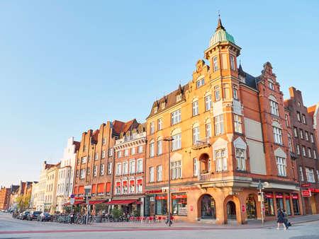 HAMBURG, GERMANY - APRIL 09, 2017: Lubeck old city center