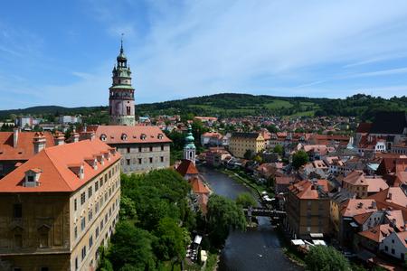 panorama view of esk Krumlov-Czech republic