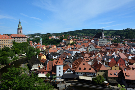 panorama view of esk Krumlov-Czech republic Reklamní fotografie