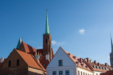 Church and old town - Wroclaw, Poland