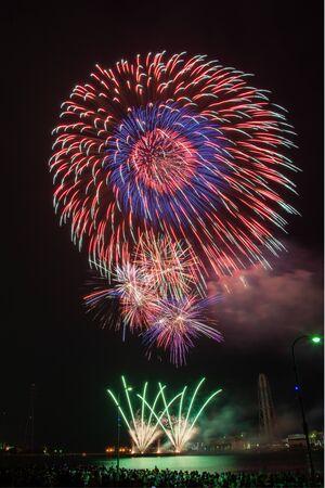 Fireworks in the night sky - Himeji, Japan Stock fotó