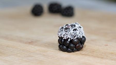 Sugarcoated Blackberries 스톡 콘텐츠