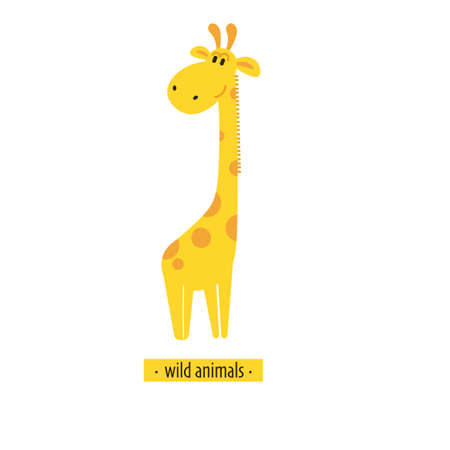 Cute vector giraffe. Perfect for wallpaper cards stickers poster print packaging invitations Baby shower patterns travel