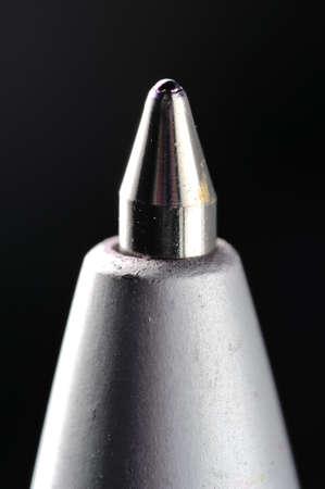 tip up: A Blue Ballpoint Pen Tip Close-Up Shot Using Macro Lens