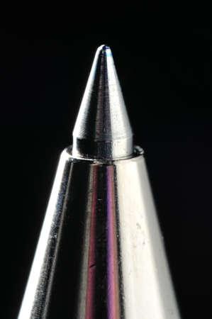 A Blue Roller-Ball Pen Tip Close-Up Shot Using Macro Lens   Stock Photo - 13806072