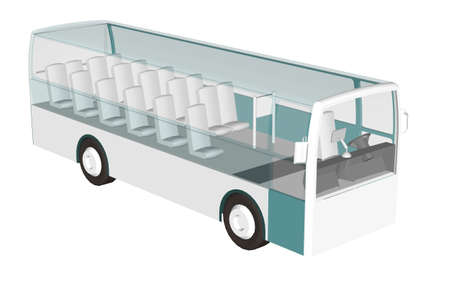 3D bus to see inside