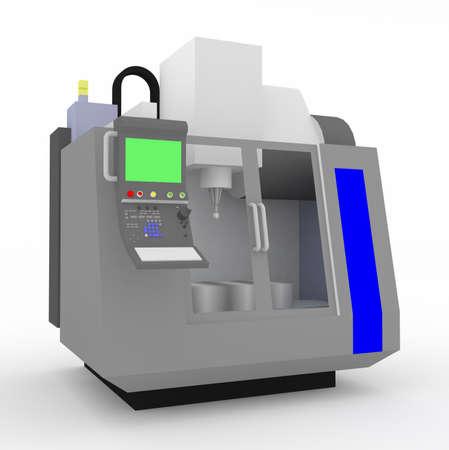 machining: 3D CNC milling machine