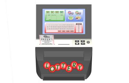 fluke: 3D lottery machine with digital screen