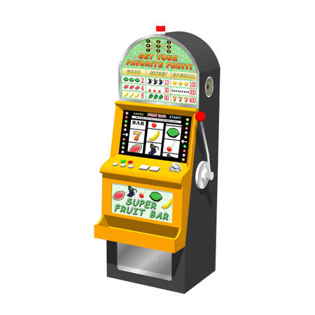 lever arm: 3D slot machine  traditional type