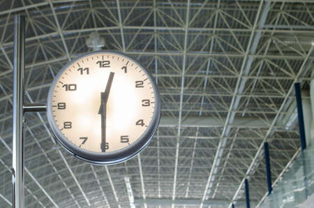 exactness: The airport clock marks the time of shipment