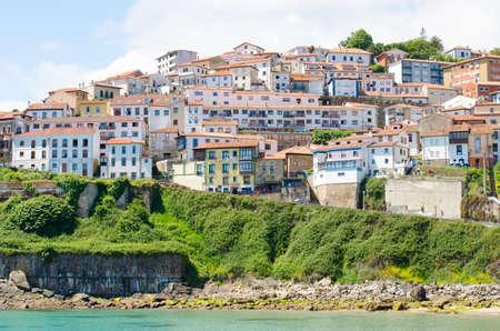 seaboard: Lastres, lovely seaside village on the coast of Asturias, Spain.