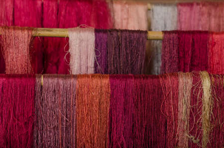 silk thread: Raw silk thread from La Palma, Canary Islands, Spain.