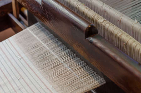 palma: Handmade silk loom in La Palma, Canary Islands, Spain. Stock Photo