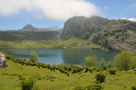covadonga: Covadonga Lakes, National Park Picos de Europa, Asturias, Spain.