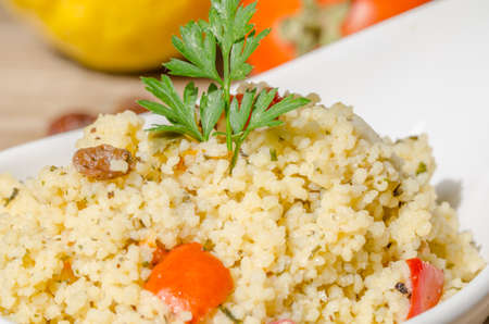 tabbouleh: Eastern tabbouleh: cold couscous salad typical of Arab countries in summer.