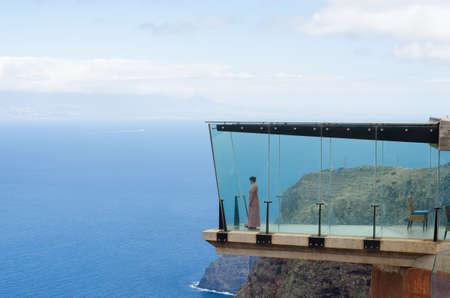 gazer: Atlantic view fron mirador de Abrante, Agulo, La Gomera, Canary islands, Spain.