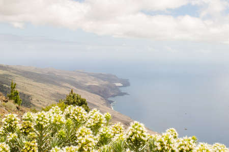 hollidays: Landscape See of calm, El Hierro, Canary islands, Spain.