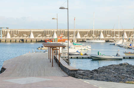 privileged: Fishing port in La Restinga, seaside village in the south of the El Hierro, privileged region for divind. Canary island, Spain.