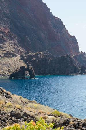 stone volcanic stones: Roque de Bonanza in El Hierro, Canary islands, Spain. Stock Photo
