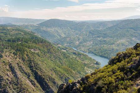 Canyon de Rio Sil, Ribeira Sacra, Galicia, Spain.