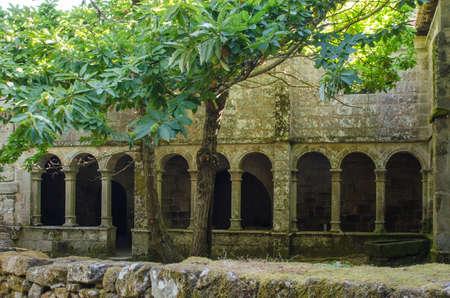 Monastery of Santa Cristina de Ribas de Sil, Ribeira Sacra, Galicia,  Spain Stock Photo