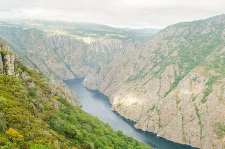 sil: Canyon de Rio Sil, Ribeira Sacra, Galicia, Spain.