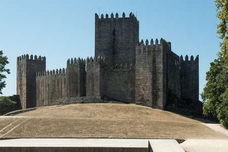 Castle of Guimaraes - medieval castle in the municipality Guimaraes, Portugal Stock Photo