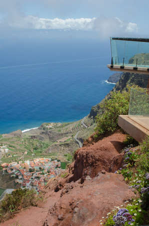 Atlantic view from mirador de Abrante, Agulo, La Gomera, Canary islands, Spain.