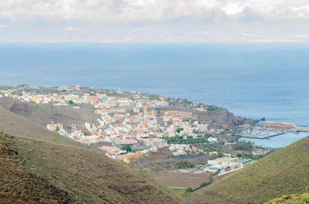 Landscape view of San Sebastian city with Tenerife island on the background Stock Photo - 103295662