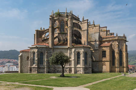 Santa Maria Church in Castro Urdiales, small city in Cantabria, Spain Stock Photo - 104914061
