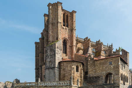 Church of St. Mary of the Assumption, Castro Urdiales, Cantabria, Spain. Stock Photo