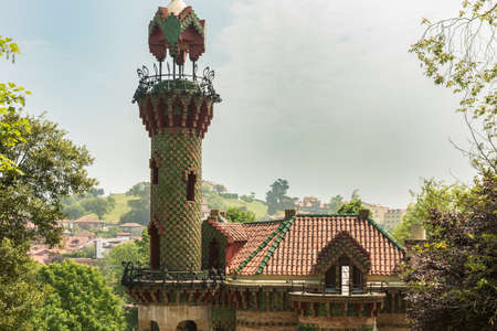 Comillas (Cantabria, Spain) - Caprice of Gaudi, May 2018. El Capricho is a mansion designed by the great architect Antoni Gaudí and is considered as one of the jewels of European modernism.