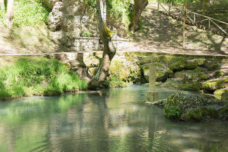 Birth of the Ebro River in Fontibre, Cantabrial, Spain