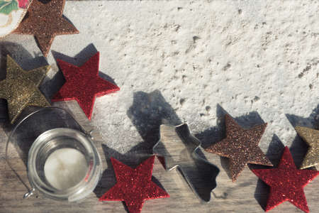 Christmas food background. Seasonal concept. Copy space to write. Stock Photo - 107735208