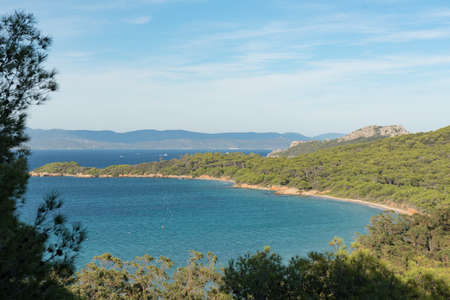 Beautiful bay in Porquerolles island, in the south of France.