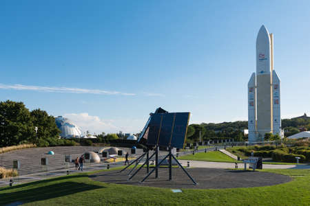 TOULOUSE, FRANCE - September 29, 2018: Space city (Cité de lespace), theme park focused on space and the conquest of space, Toulouse, France Editorial
