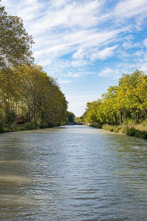 Canal du Midi near Carcassonne, France.