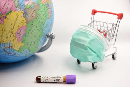 Coronavirus impact on global economy and stock markets, financial crisis concept