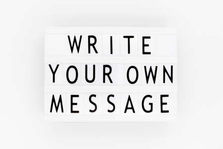 Motivational and inspirational quotes - Write your own message.