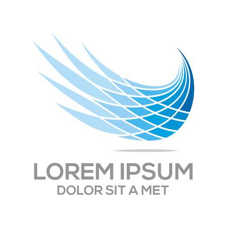 logotipo turismo: Logotipo de vuelo de aves de icono de vector abstracta Vectores