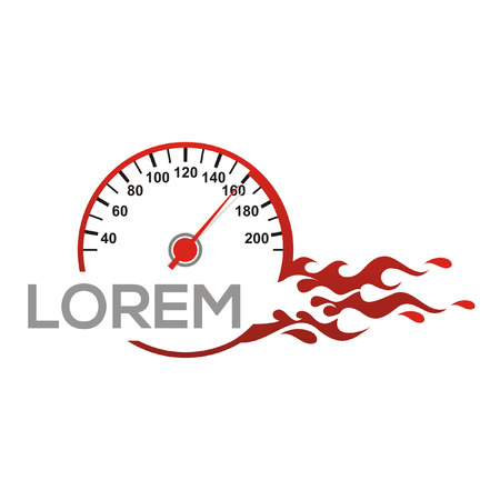 Speedometer logo vector car speed fast